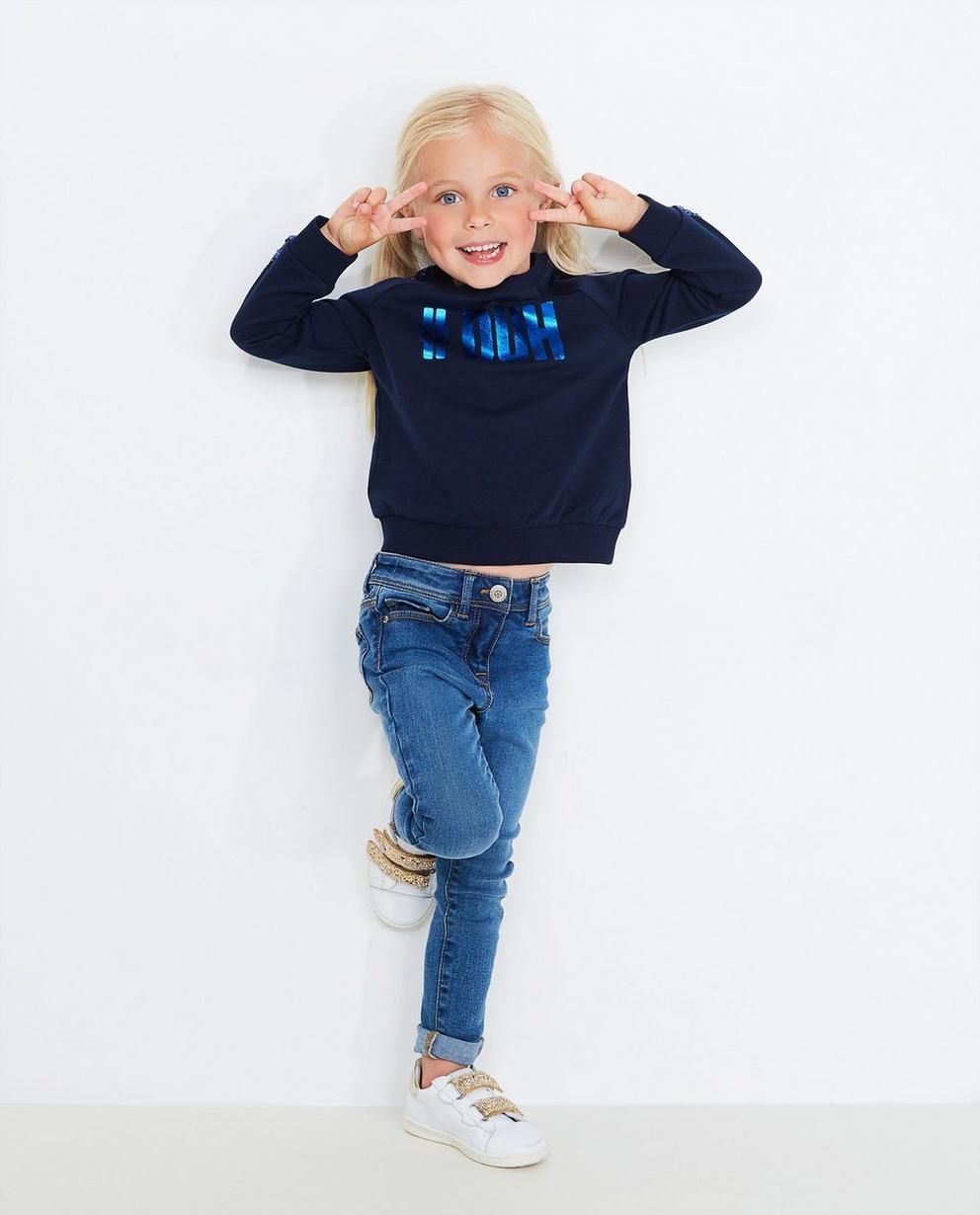 Sweater mit Pailletten - in Nachtblau - JBC